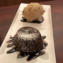 Lava Cake + Ice Cream ($9.80 + $3.30)
