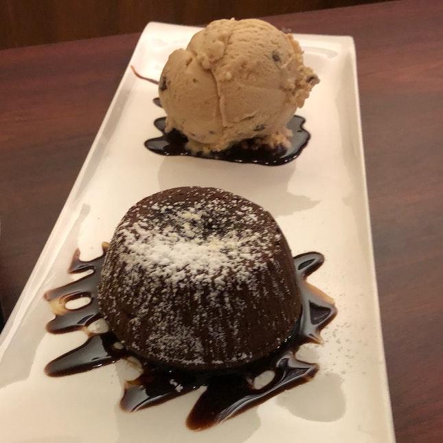 Lava Cake + Ice Cream ($9.80 + $3.30)