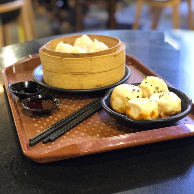 Set A Shen Jian Bao ($9.80), Xiao Long Bao (4pc, $5.40)