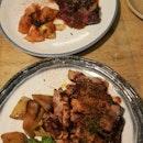Beef Ribeye steak & pork tomahawk