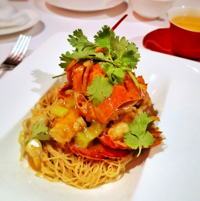 Braised Boston Lobster with Egg Noodles || @ShangrilaSG