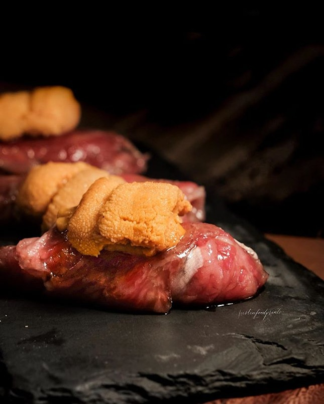 Beef and Uni ($25 each).