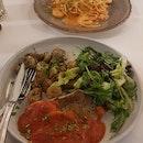 Pan Fried Seabass & Arora Prawn Pasta