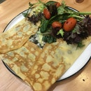 Mushroom And Cheese Crepe