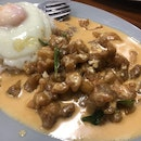 Creamy Salted Egg Chicken Rice