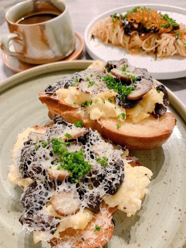 Mushroom Toast ($16)