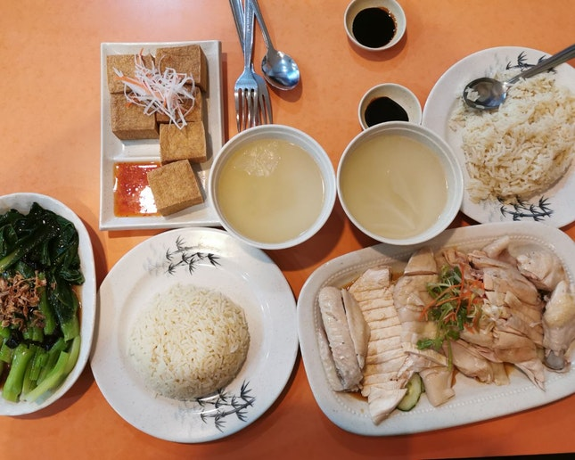 Chicken Rice with all the Fixings