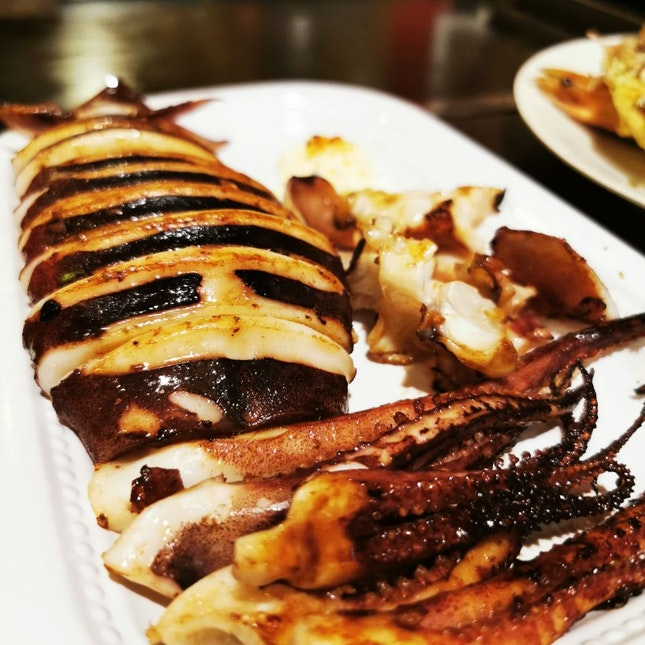 Grilled Whole Ika