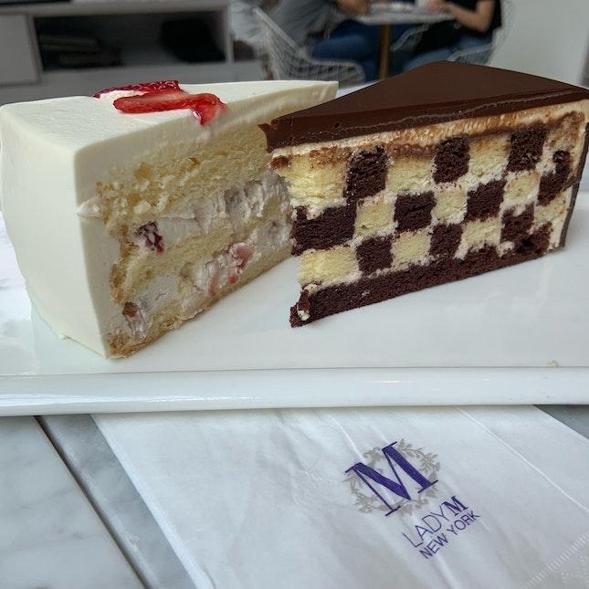 Strawberry Shortcake And Checker Cake