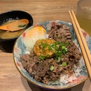 Garlic Butter Angus Beef Donburi