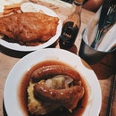 Bangers and Mash + Beer Battered Fish & Chips ($15.90 each)