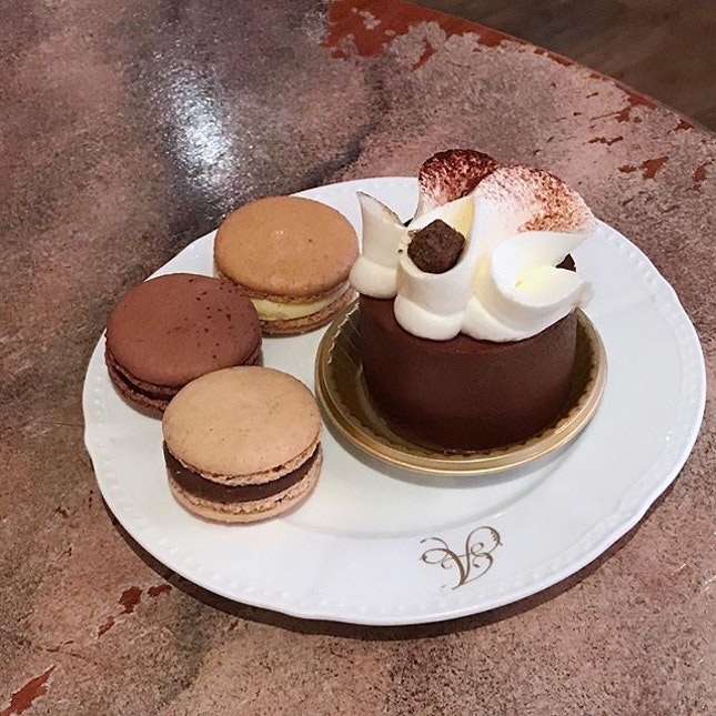 Non-Guilt Dessert; Haute Cafe with Three Guilty Little Ones; Chloe, Grand Cru & Antoinette #antoinette #antoinettesg #cafe #cafesg #sgcafe #foodstagram #dessert #pastry #cake #macarons #foodporn #instafood #instafoodie #burpple #burpplesg