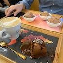 Dark Chocolate Ice Cream Platter