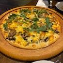 Truffle Mushroom Flatbread Pizza