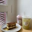 Strawberry Basil Latte & Soursop Sencha