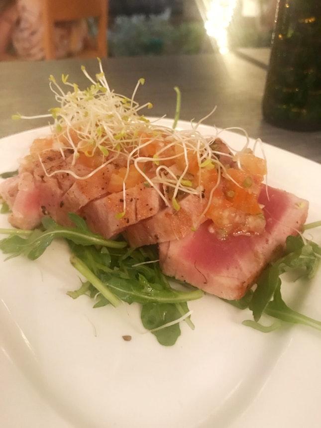Seared Tuna OK Food And OK View