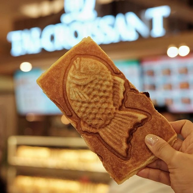 We could eat croissant Taiyaki all-day every-day 🐟🥐🤤 .