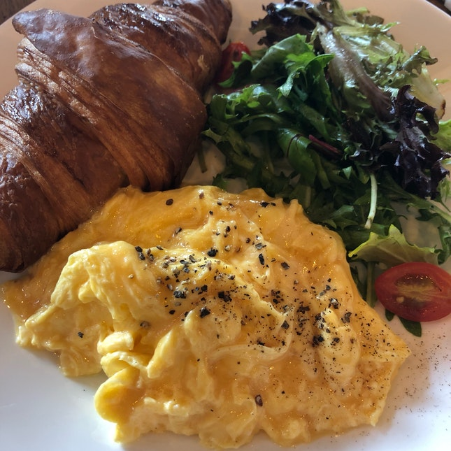 Croissant With Scrambled Eggs ($11)