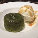 Matcha Lava Cake with Tahitian Vanilla Ice-Cream