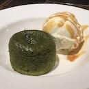 Matcha Lava Cake with Tahitian Vanilla Ice-Cream