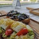 Avo Egg + Mushroom Toast