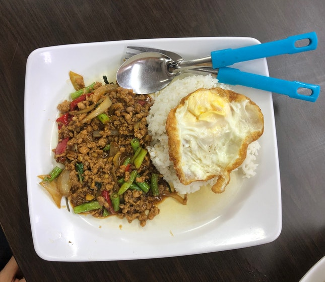 Basil Pork with Rice