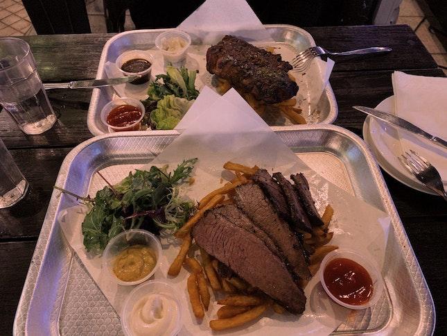 Wagyu beef brisket / Baby ribs