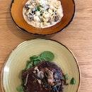 Wild Mushroom Orecchiette & Rib Eye Steak