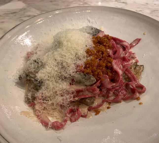 Truffle Cream Pasta & Prawn Olio Olio