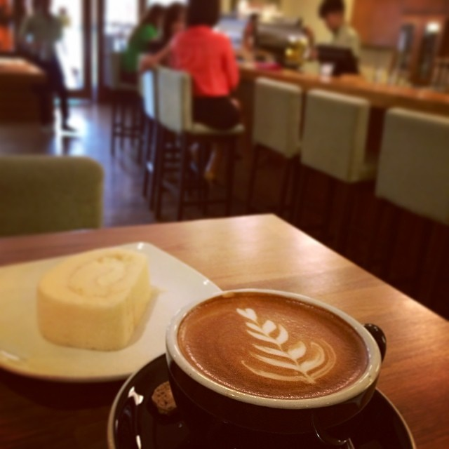 flat white @ my liberica specialty coffee, JB