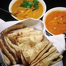 naan ($5 per serving) / butter chicken ($24) @ table by rang mahal