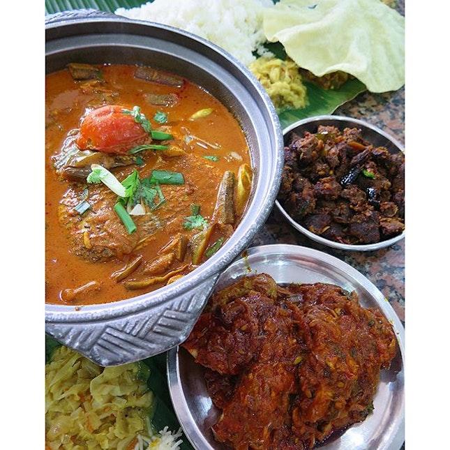 fish head curry ($32) @ karu's