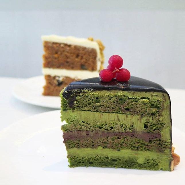 matcha chocolate cake ($7.50) @ cedele