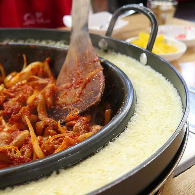 cheese chicken galbi ($49.90 for 2-3 pax) @ yoogane