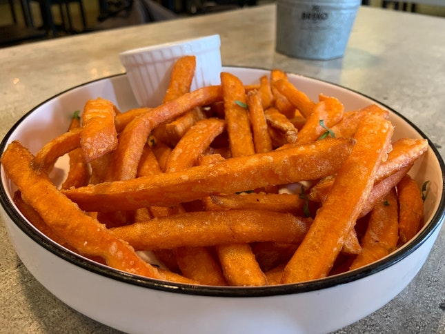 Sweet Potato Fries | $9.50