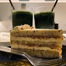 Matcha Latte, Ceremonial Matcha Latte, Honey Earl Grey Cake | $5.80, $8.80, $7.80