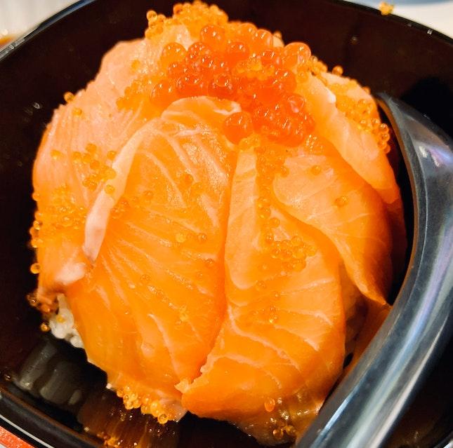 Salmon Sashimi Ikura Don   $12.00