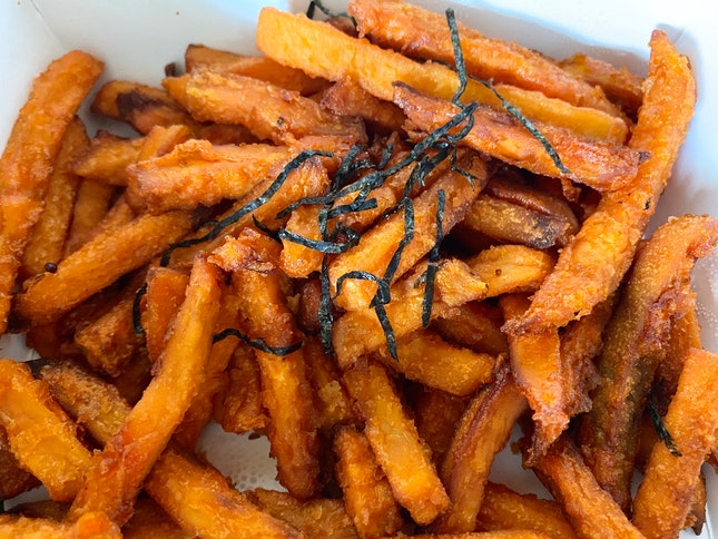 Sweet Potato Fries | $15