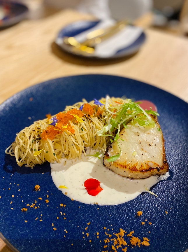 Miso Butter Cod and Capellini ($30++)