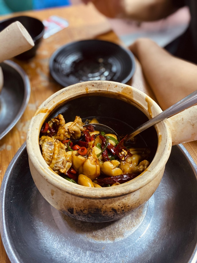 Claypot Frog with Dry Chilli (5 for $22)