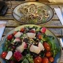 Roast Chicken Salad & Mushroom Risotto