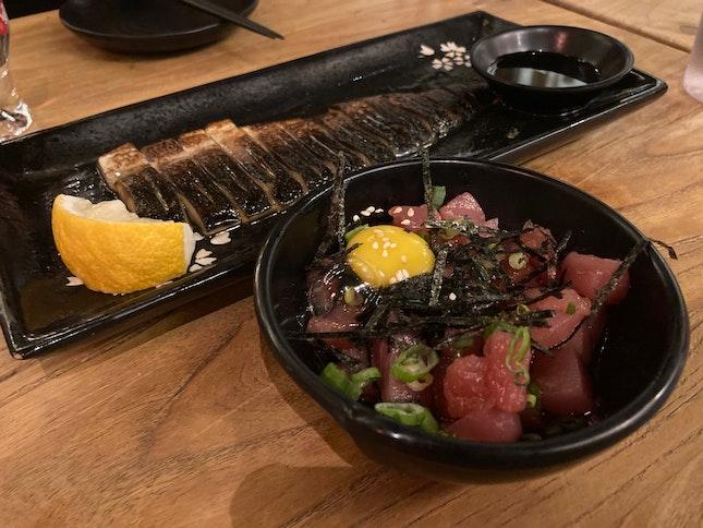 Mackerel and Maguro Yukke