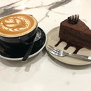 Latte and Chocolate Cake
