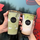 Matcha Latte and Avocado Brown Sugar Fresh Milk