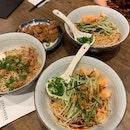 Dry Shrimp Ramen & Chicken Chop
