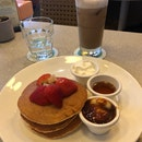 Strawberry Pancake And Coffee