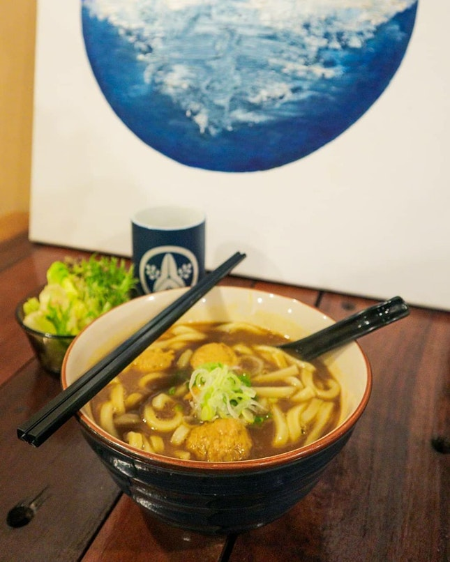 Tori Tsukune Curry Udon