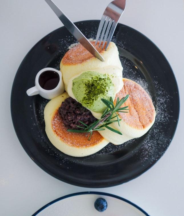 Fuwa Fuwa Pancake with Matcha Azuki