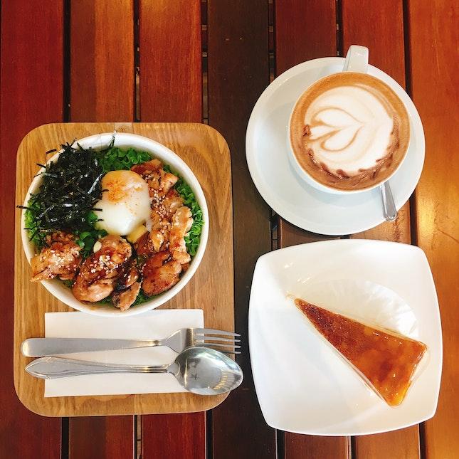 Decent Teriyaki Rice Bowl & Crepe Cake