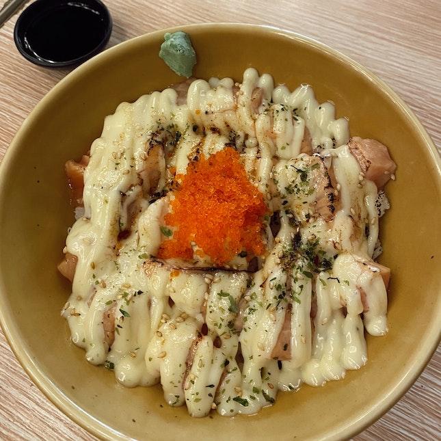 Special Salmon Sashimi Don